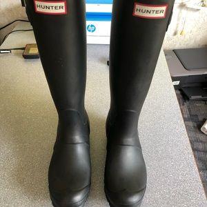 Hunter original two tone boots